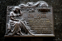 Plate on the tomb containing Eva Peron