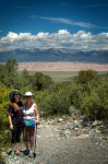 Madeline and Kathleen at Zapata Falls with the Great Sand Dunes